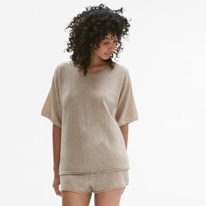 55051b1905 MM Lafleur Intimates   Sleepwear - MM LaFleur Cashmere Pajama Set in  Heather Oatmeal